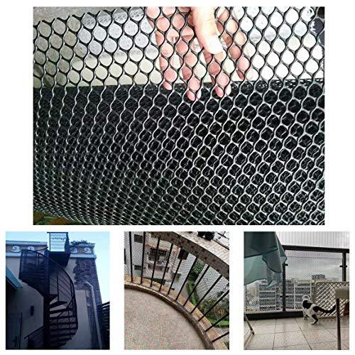 Plastique Balcon Et Stairway Sécurité Noir Net, Tout-Petits Bébé Enfants Pet Banister Stair Net Protector for Les Enfants/Animaux/Sécurité des Jouets (Color : Black, Size : 1.2x3m)