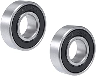 uxcell 1623-2RS Deep Groove Ball Bearing 5/8 inches x 1-3/8 inches x 7/16 inches Double Sealed Chrome Steel Bearings 2-Pack