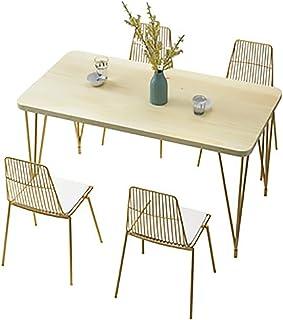 MKMKT Table à Manger, Table Longue en Bois Massif et Combinaison de chaises Table de Salle à Manger Simple Moderne 4-6 Per...