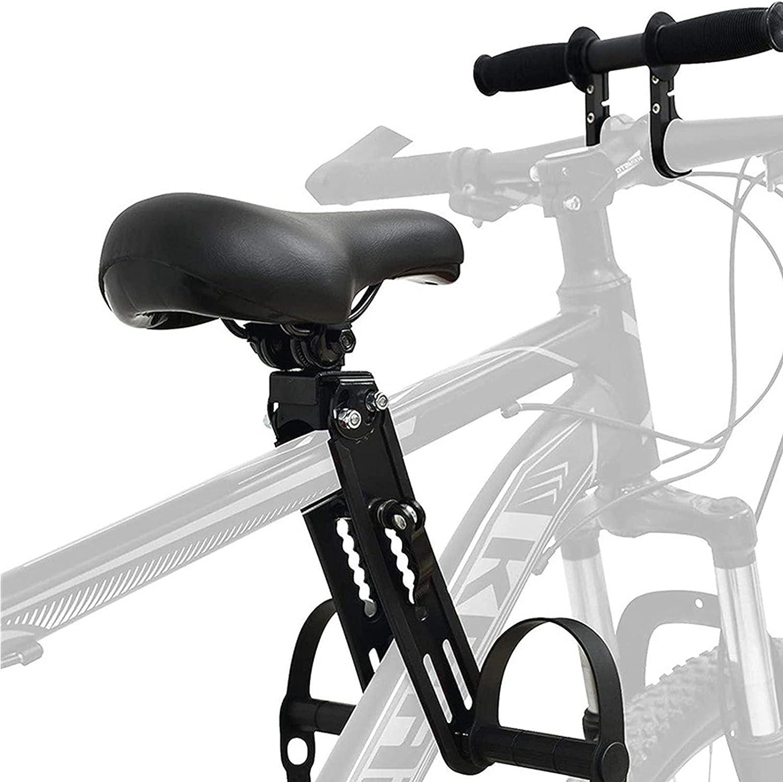 Ealitak Kids Bike Seat for Mountain Bikes, Bike Child Seat and Handlebar Accessory Combo Pack Baby Bike Seat Front Mounted, Detachable Bicycle Seat Bike Seat for Kids 2-5 Years