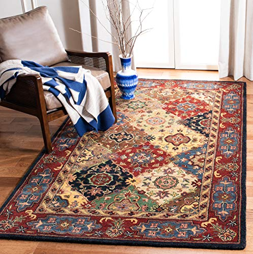 "Safavieh Heritage Collection HG926A Handcrafted Traditional Oriental Red and Multi Wool Area Rug (7'6"" x 9'6"")"