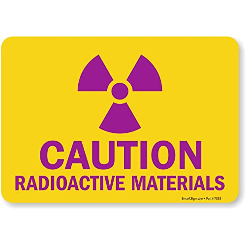 Brady 88747 Self Sticking Polyester Radiation /& Laser Sign 10 X 14 with Picto Legend Caution Radiation Area Radioactive Materials Authorized Personnel Only 10 X 14