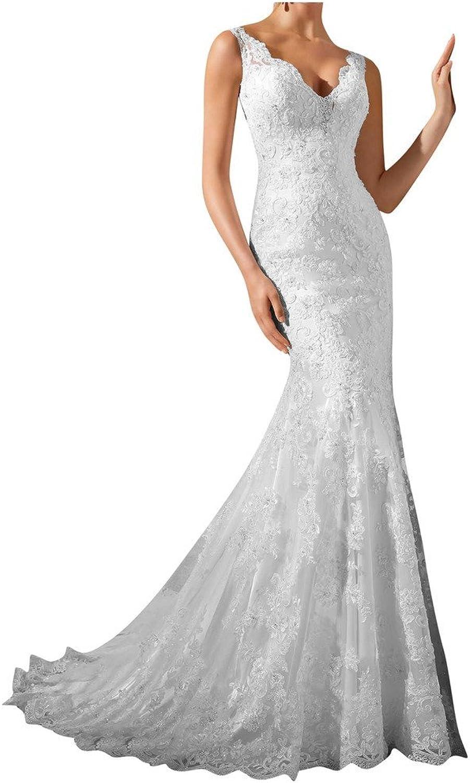 MILANO BRIDE Mermaid Vneck Backless Applique Wedding Dress For Bride 2016