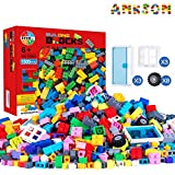 Anksono 1500 Pieces Building Bricks for Kids with Doors,Windows,Wheels,Tires,Axles , Classic Building Bulk Blocks Compatible with All Major Brands for Boys Girls Ages 3 4 5 6 7 8 9 10 Year Old