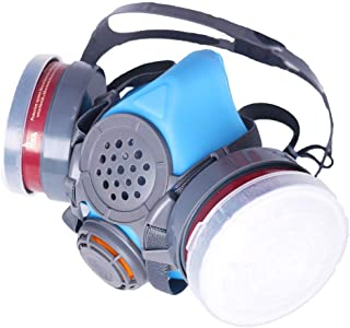 T-60 Respirator Dual N95 Activated Charcoal Civilian Air Filters - Industrial Grade Quality - Pure Safe Breathing for Toxic Spray.