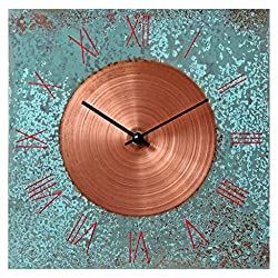 12-inch Copper Wall Clock - Art Decor 7th Anniversary Gift - for Home Office Kitchen Living Room