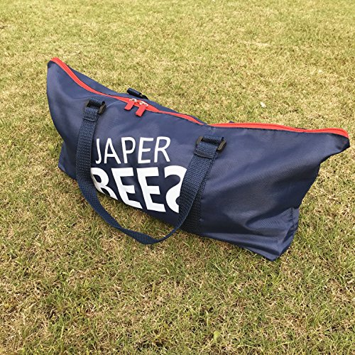 JaperBees Ladder Ball Toss for Outdoor Lawn Game with Heavy Duty Structure and Fasion Carrying Bag (Premium)
