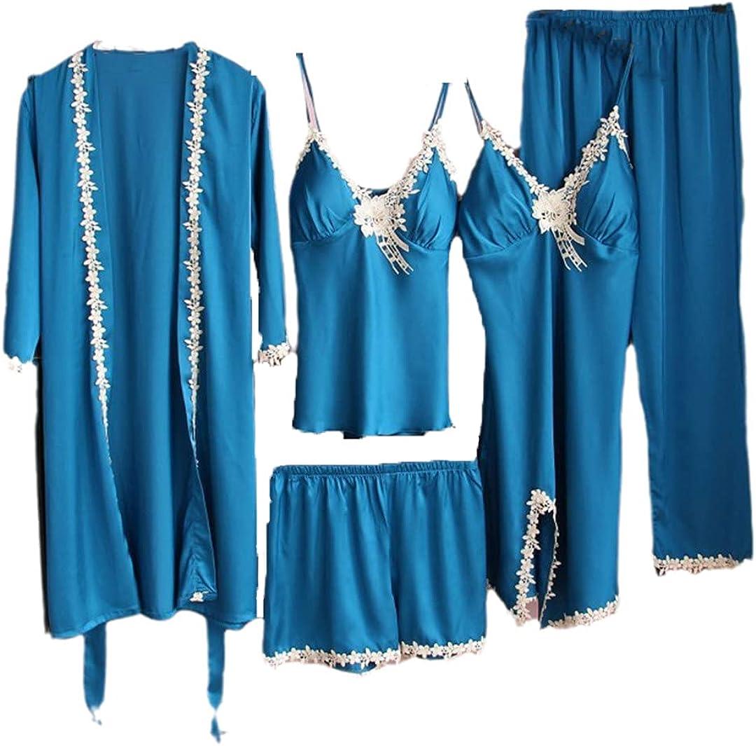 Lace Sleep Japan's Minneapolis Mall largest assortment Suit Satin Sleepwear for Robe Gown Sets Women Kimono