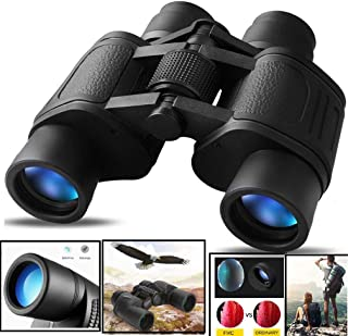 CASON (DEVICE OF C) Professional 8 X 40 HD Folding Lens 10X Zoom Prism Binocular Telescope with Pouch for Long Distance , bird watching , Black