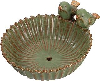 YARNOW Ceramic Wild Finch Bird Feeder Water Baths Succulent Flower Pot Fruit Dessert Bowl Creative Sauce Dish Appetizer Je...