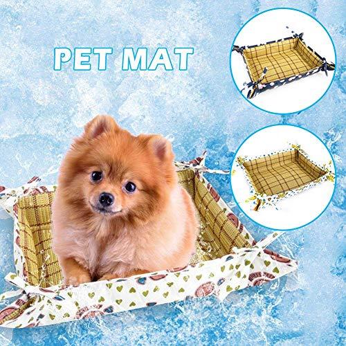 Sue-Supply - Alfombrilla de refrigeración para Mascotas, Tela Oxford, Impermeable, Doble Uso, Antiadherente, para Gato, Perro