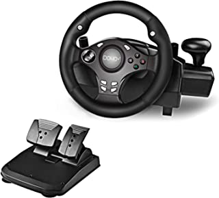 DOYO 270 Degree Motor Vibration Driving Gaming Racing Wheel with Responsive Gear and Pedals for PC/PS3/PS4/XBOX ONE/XBOX 3...
