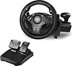 $104 » Sponsored Ad - DOYO 270 Degree Motor Vibration Driving Gaming Racing Wheel with Responsive Gear and Pedals for PC/PS3/PS4/...