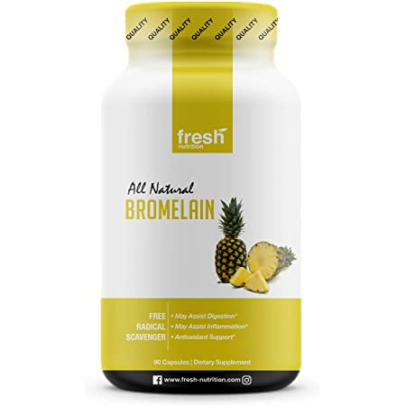 Bromelain – High Strength Bromelain Supplement – Antioxidant, Inflammation, Digestion, Immune System, Respiratory Health, Heart Health, Joint Health, Bruises, Energy and Wellbeing – Vegan Friendly