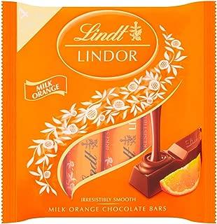 Original Lindt Lindor Milk Orange Chocolate Bars Imported From The UK England Milk Chocolate With A Irresistibly Smooth Melting Orange Filling