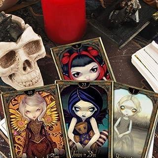 占いカード tarot card ボードゲームタロットカードライトデッキ、キッズディヴィネーション神秘的な運命ガイドブック