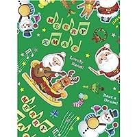 タカ印 ラッピングペーパー 49-4029 クリスマス ミュージックノエル 全判 50枚 緑