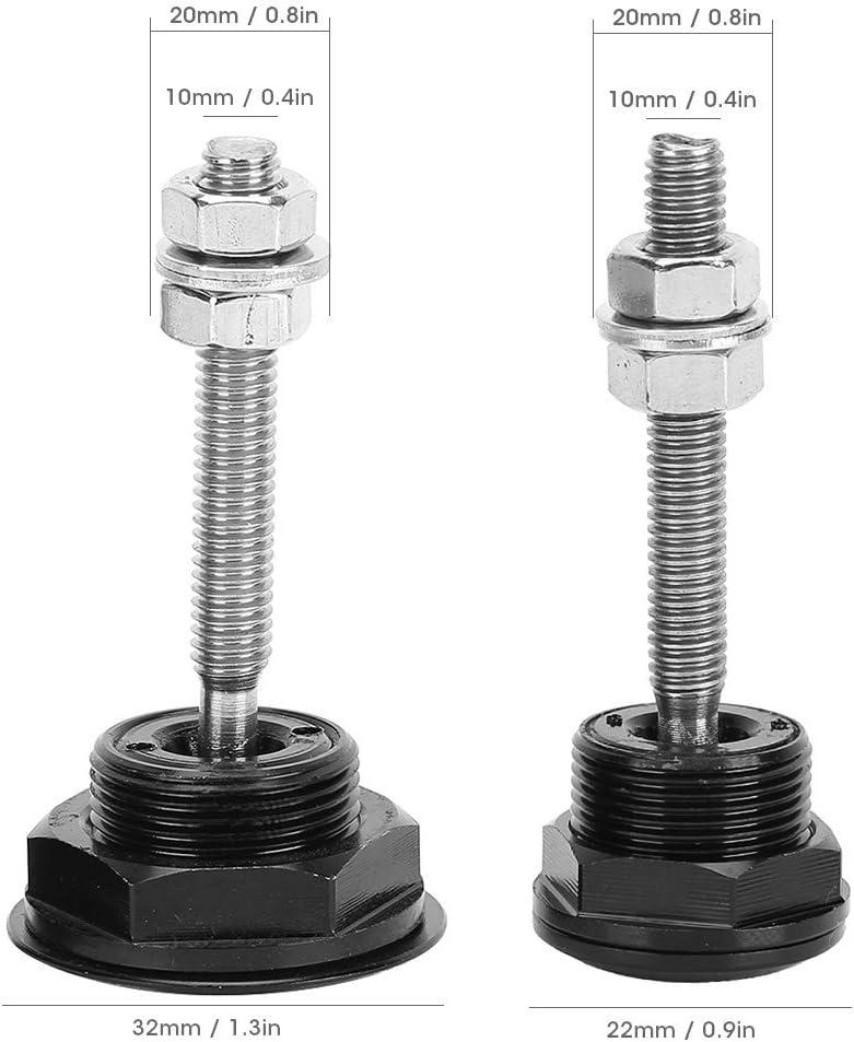 Terisass Quick Release Latch 2Pcs Universal Push Button Low Profile Hood Pins Lock Car Lock Clip Kit 22mm