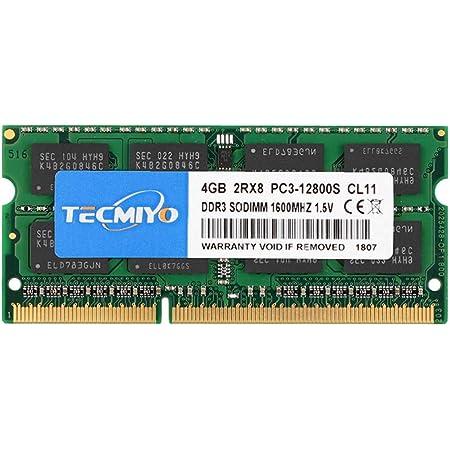 テクミヨ ノートPC用メモリ1.35V (低電圧) DDR3L 1600 PC3L-12800 4GB×1枚 204Pin CL11 Non-ECC SO-DIMM Mac 対応 永久保証