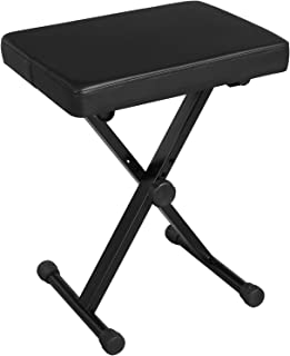 SONGMICS Adjustable Keyboard Bench, X-Style Padded Metal...