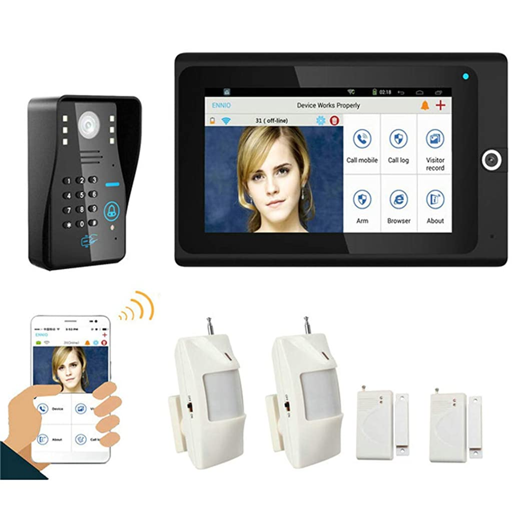 Love of Life Smart Door Lock, 7-inch WiFi Wireless Video doorbell Home Monitoring System, Indoor Security Camera Smart doorbell,Motion Detection, Remote Monitoring