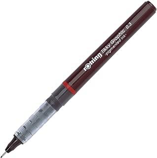 rOtring Tikky Fine Liner Fiber Tip Graphic Pen, 0.3 mm, Black Ink (1904753)
