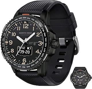 APCHY Smart Watch, Rastreador De Fitness De Cuarzo Impermeable para Hombre De 3 Entrenamientos, Reloj Personalizado Cara por Aplicación, Relajes De En TI Relojers con Monitor De Frecuencia,Negro