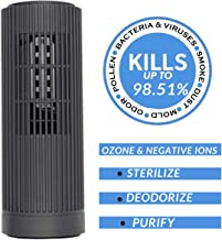 PurifiedO2 Mini Portable Ozone Generator & Ionic Air Purifier with No Filter | Mini Air Ionizer for Car Travel Office Frid...
