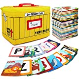 Urban Kiddy Zoo Alphabet Cards | Soft Alphabet Flash Cards, Educational Early Learning Infant Toys for Babies Infants Toddlers Boys Girls Kids Over 0 1 2 3 Years Old | My First ABC Animal Cloth Cards
