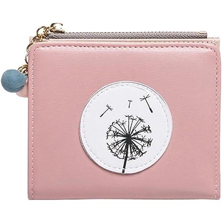 Diyafas Damen Zweifach Kurze Portemonnaie Brieftasche mit Münztasche Mädchen Geldbörse Kartenhalter Kleine Clutch