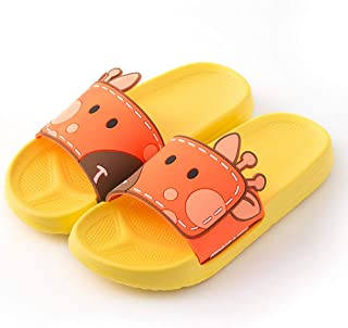 Cartoon Non-Slip Bathroom Slippers, Open Toe Women's Shower Slide Sandals Summer House Beach Water Slippers,E,L