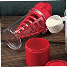 1 Pc 500ml Plastic Sports Water Bottle Portable Leak-Proof Protein Powder Blender Multifunctional Shake Cup Red Estimated Price : £ 8,49
