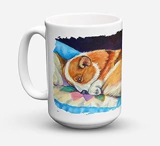 Caroline's Treasures 7291CM15 Corgi Dishwasher Safe Microwavable Ceramic Coffee Mug, 15 oz, Multicolor