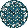 静かな掛け時計見やすい掛け時計壁掛け時計10インチの風車グラフィックパターンの風車プレイルーム保育園赤ちゃん夏楽しい演劇イラスト多色サイレントホームオフィスの装飾くすぐり時計オフィス装飾