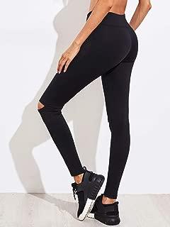Drill Knee Slit Leggings