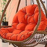 Dicke Liege Relaxsitzbezug Hängende Ei-hängematte Stuhlkissen,Hängesessel Kissen,Drehsessel Round Schwenksessel Korbsessel Hundekorb Hundesessel Gartensessel Sessel (Color : Orange)