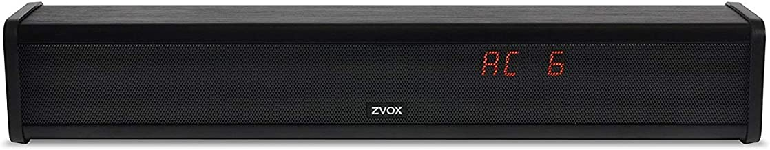 ZVOX Dialogue Clarifying Sound Bar with Patented Hearing Technology, Six Levels of Voice Boost - 30-Day Home Trial - AccuV...