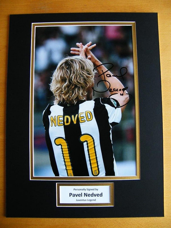 Sportagraphs Pavel Nedved Genuine Hand Signed Autograph 16X12 Photo Mount Juventus & Coa