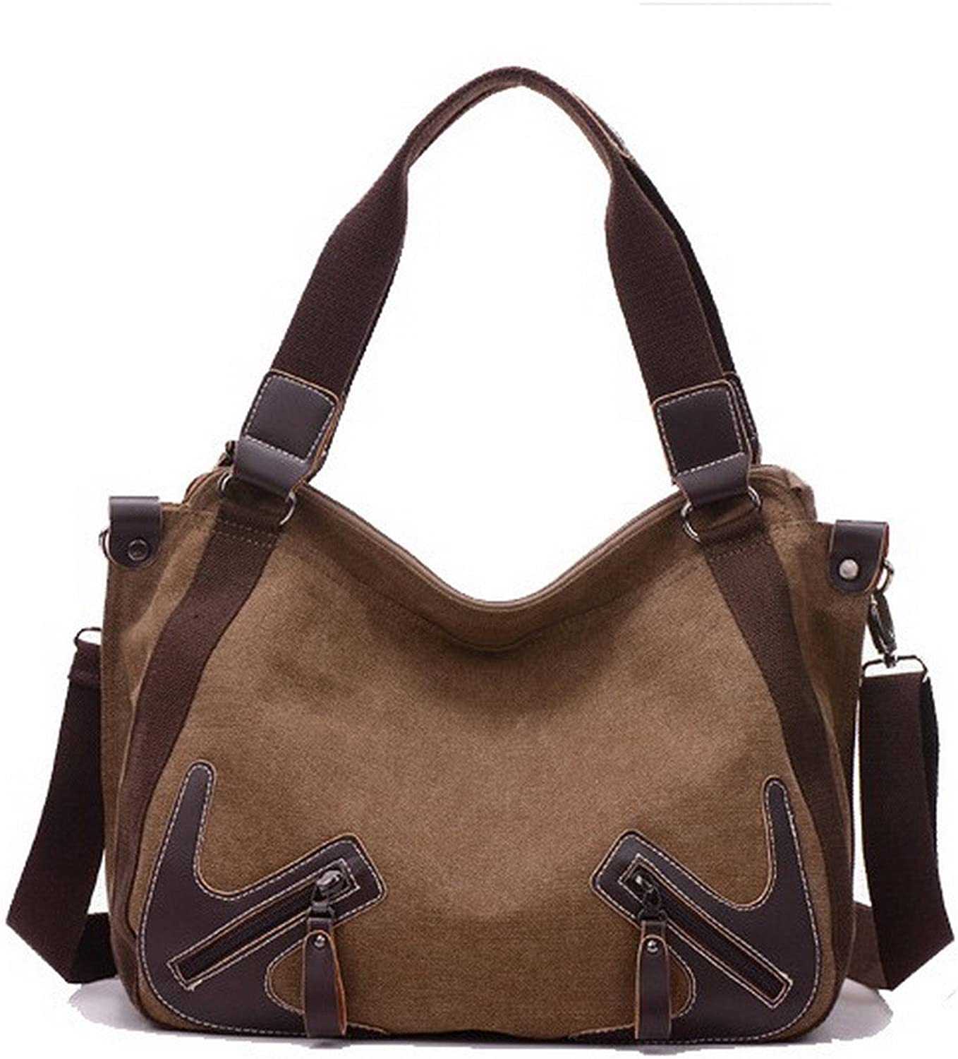 WeenFashion Women's ToteStyle Canvas Crossbody Bags Shopping Tote Bags, AMGBW181470