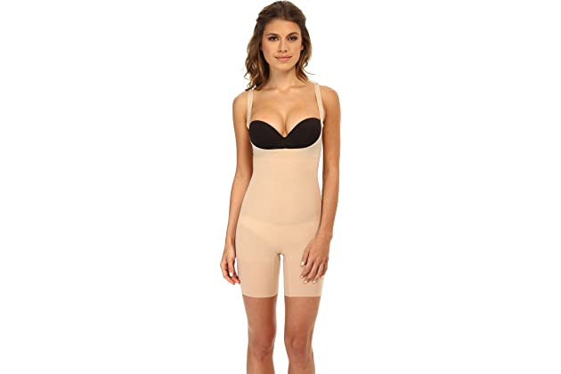 59c9430338 SPANX Women s Shape My Day Open Bust Mid-Thigh Bodysuit