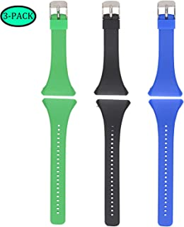 Fit for Polar FT4 Watch Bands, Polar FT7 Bands Women Men, Sports Adjustable Silicone Replacement Band Straps Wristbands Accessory Band Bracelet for Polar FT4/ FT7 Watch (Green Black Blue)