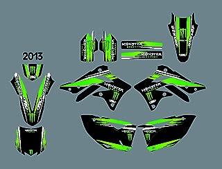 DST0365 Custom Kawasaki motorcycle Decal Kit Motorcross Graphics dirt bike Sticker for Kawasaki KXF 450 2013 3M Adhesive Decals