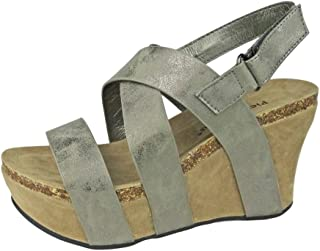 Women's Hester-5 Vegan Leather Strappy Wedge Sandals