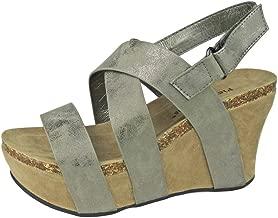 Pierre Dumas Women's Hester-5 Vegan Leather Strappy Wedge Sandals