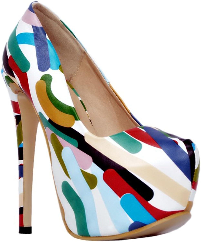 CASSOCK Ladies High Heel Platform Pumps Prom Dress Club Large Size shoes