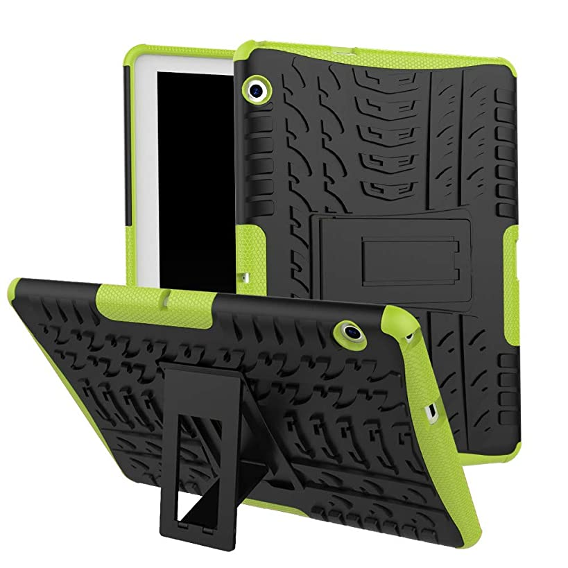 Sodoop Case for Huawei Mediapad T3 10 9.6 inch, Hybrid Rugged Hard Rubber PC Stand Case Cover with Auto Sleep/Wake