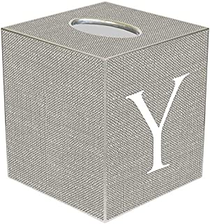 Kelly Tissue Box Cover Personalized Gifts Monogrammed Gifts Your Initial Letter Y Gray