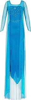 Katara 1768 Costume Donna Principessa Elsa Adulto Travestimento Frozen Donne Vestito Carnevale Halloween - Taglia XXL