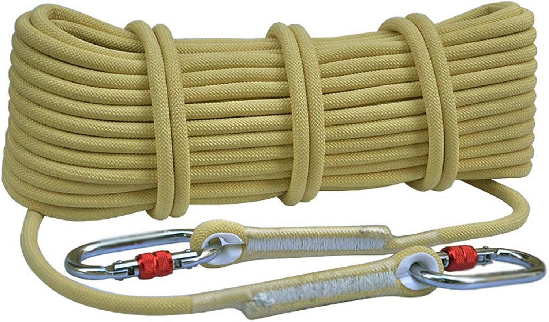 CATRP 耐摩耗登山用ロープ高所用下り坂屋外用安全ロープライフセービング機器用クライミングロープスタティックロープ (サイズ さいず : 100m10.5mm)