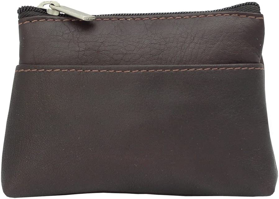 Piel Leather Key Coin Purse, Chocolate, One Size